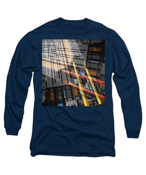 Diagonal Mondrian Long Sleeve T-Shirt