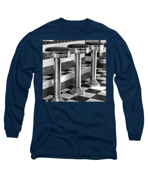 Diner Stools Long Sleeve T-Shirt by Lisa Phillips