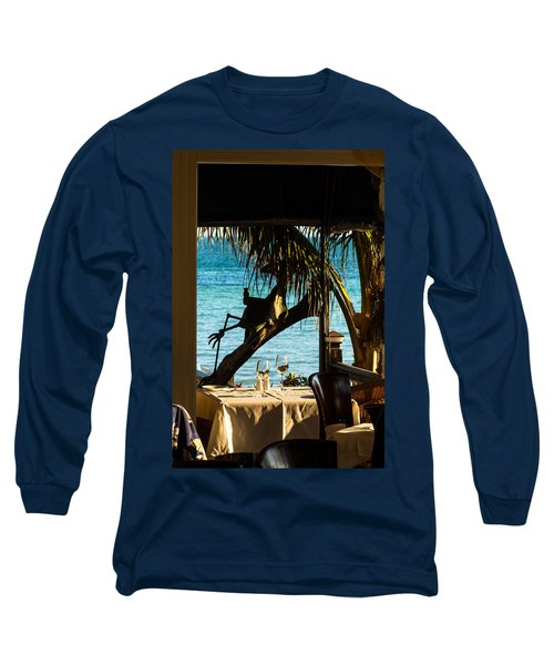 Dining For Two At Louie's Backyard Long Sleeve T-Shirt