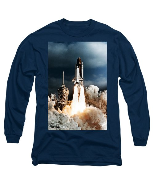 Discovery Hubble Launch Sts-31 Long Sleeve T-Shirt