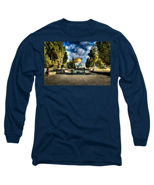 Dome Of The Rock Hdr Long Sleeve T-Shirt