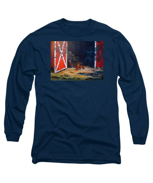 Down On The Farm Long Sleeve T-Shirt by Lee Piper