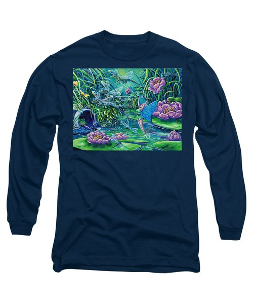 Dragonflies Long Sleeve T-Shirt by Gail Butler