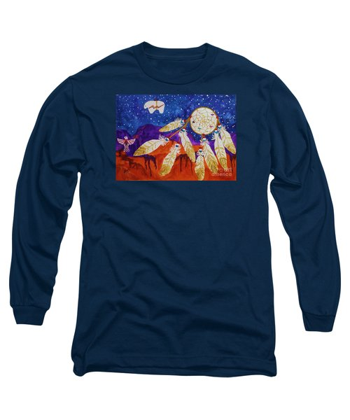 Dreamcatcher Over The Mesas Long Sleeve T-Shirt by Ellen Levinson