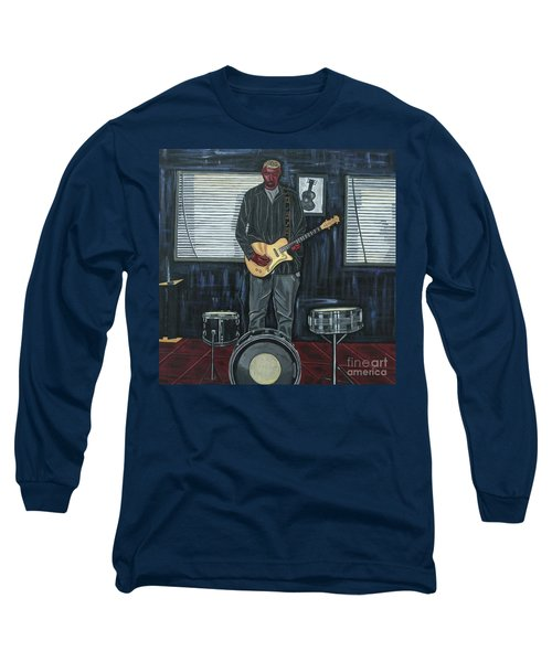 Drums And Wires Long Sleeve T-Shirt by Sandra Marie Adams