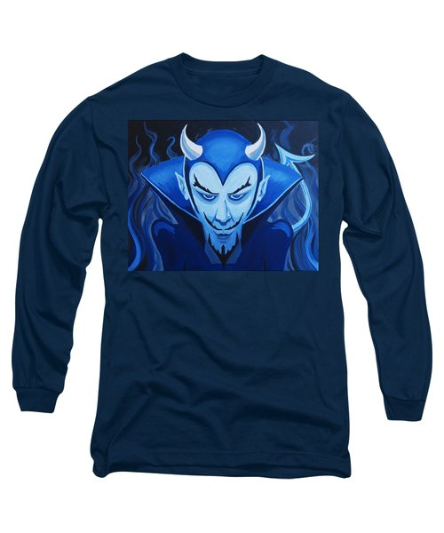 Devil Who Is Blue Long Sleeve T-Shirt