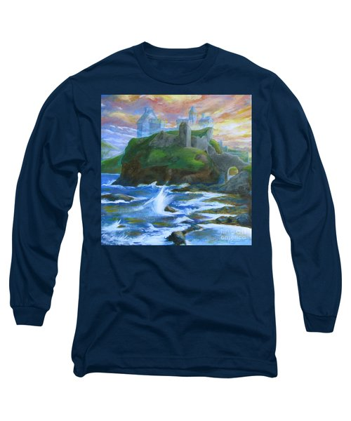 Dunscaith Castle - Shadows Of The Past Long Sleeve T-Shirt