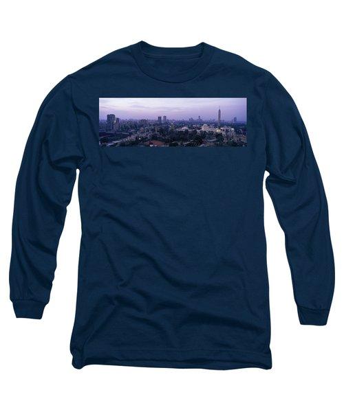 Dusk Cairo Gezira Island Egypt Long Sleeve T-Shirt