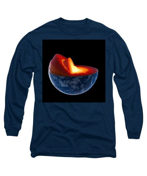 Earth Core Structure - Isolated Long Sleeve T-Shirt