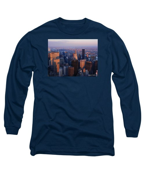 Long Sleeve T-Shirt featuring the photograph East Coast Wonder Aerial View by Emmy Marie Vickers