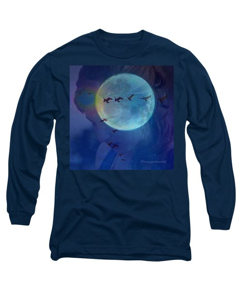 Edit To The Poem Oh Moon Long Sleeve T-Shirt
