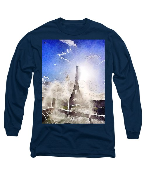 Eiffel During Summer Long Sleeve T-Shirt