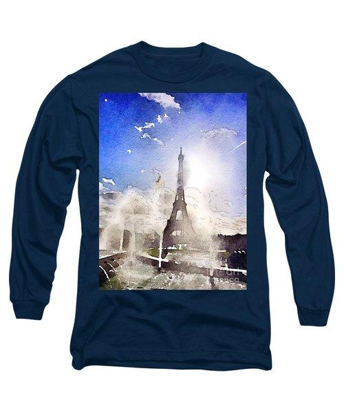 Eiffel During Summer Long Sleeve T-Shirt