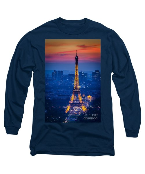 Eiffel Tower At Twilight Long Sleeve T-Shirt