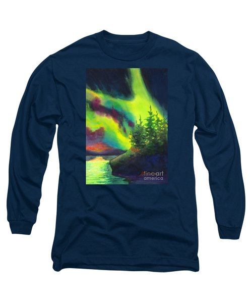 Electric Green In The Sky 2 Long Sleeve T-Shirt by Kathy Braud