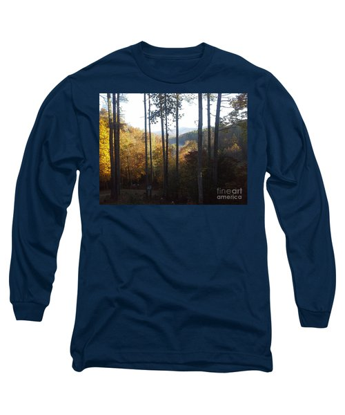 Long Sleeve T-Shirt featuring the painting Ellijay Color by Jan Dappen