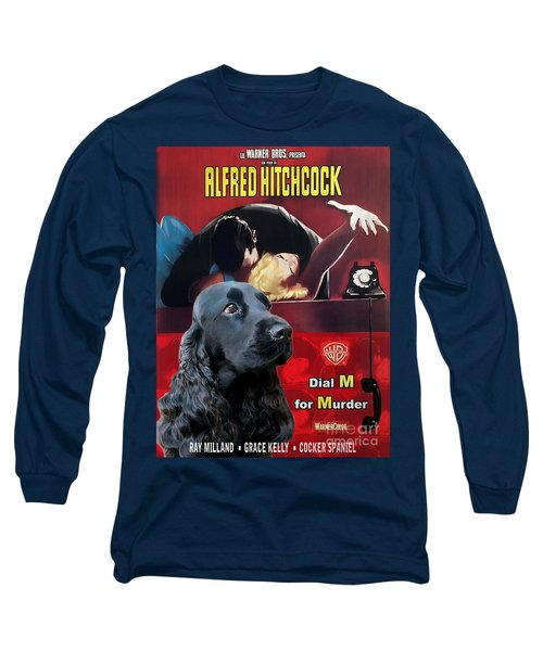 English Cocker Spaniel Art - Dial M For Murder Long Sleeve T-Shirt
