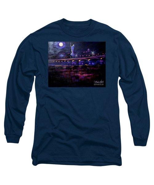 Evening Kiev. Paton Bridge Long Sleeve T-Shirt