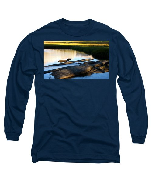 Contemplating Sunset Long Sleeve T-Shirt by Amelia Racca