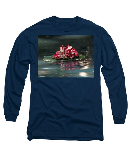 Long Sleeve T-Shirt featuring the photograph Exquisite Water Flower  by Lucinda Walter