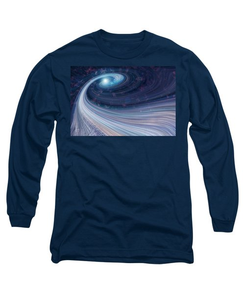 Fabric Of Space Long Sleeve T-Shirt by Fran Riley