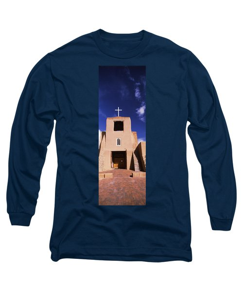 Facade Of A Church, San Miguel Mission Long Sleeve T-Shirt