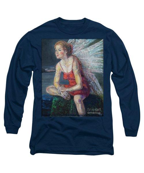 Fairy On A Stone Long Sleeve T-Shirt