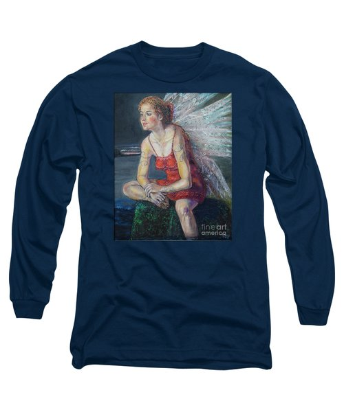 Fairy On A Stone Long Sleeve T-Shirt