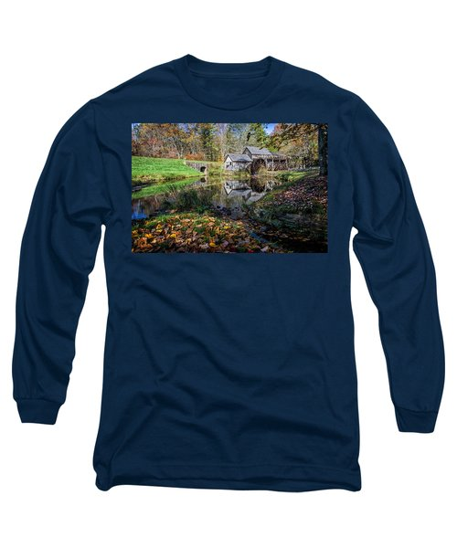 Fallen Leaves At Mabry Mill Long Sleeve T-Shirt