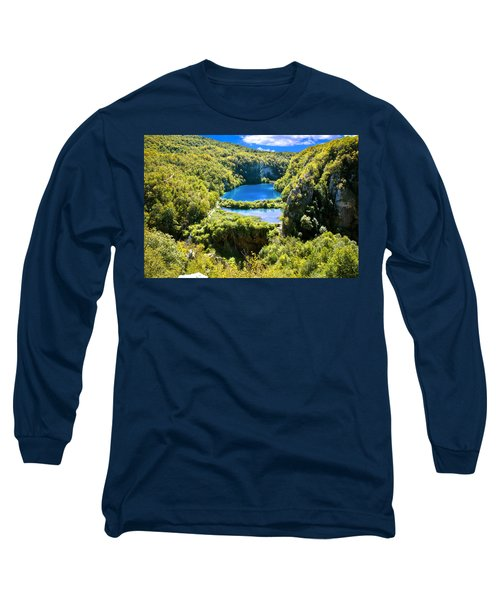 Falling Lakes Of Plitvice National Park Long Sleeve T-Shirt