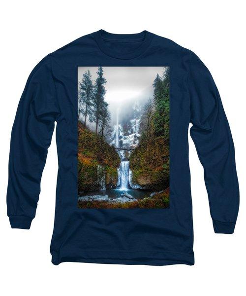 Falls Of Heaven Long Sleeve T-Shirt by James Heckt