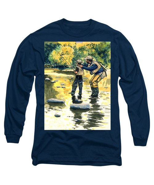 Father And Son Long Sleeve T-Shirt by John D Benson