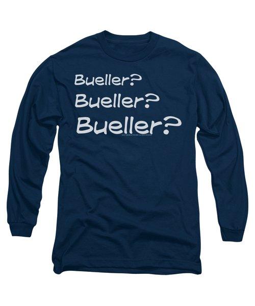 Ferris Bueller - Bueller? Long Sleeve T-Shirt