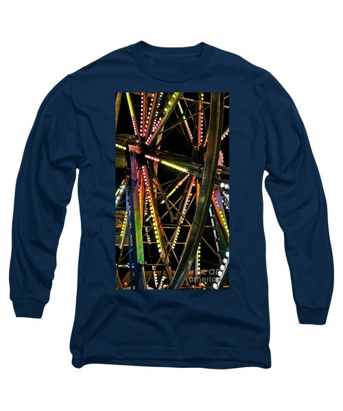Long Sleeve T-Shirt featuring the photograph Lit Ferris Wheel  by Lilliana Mendez