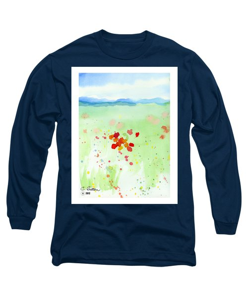 Field Of Flowers 2 Long Sleeve T-Shirt by C Sitton