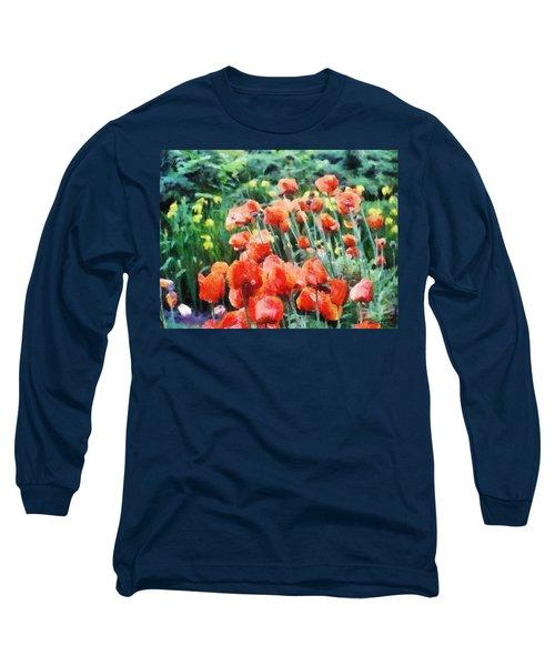 Field Of Flowers Long Sleeve T-Shirt by Jeff Kolker