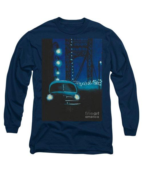 Film Noir In Blue #1 Long Sleeve T-Shirt