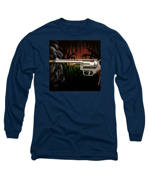 Fire In The Jungle Long Sleeve T-Shirt by Jack Malloch