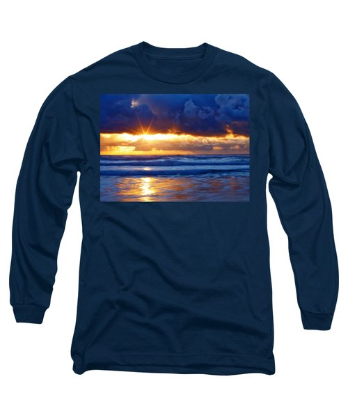 Fire On The Horizon Long Sleeve T-Shirt by Darren  White