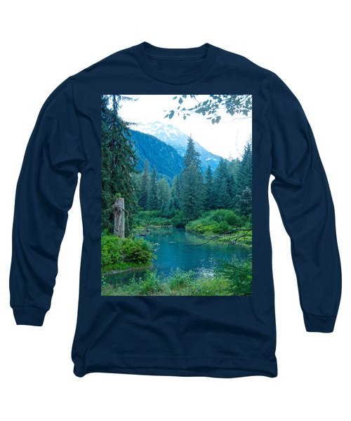 Fish Creek In Tongass National Forest By Hyder-ak  Long Sleeve T-Shirt by Ruth Hager