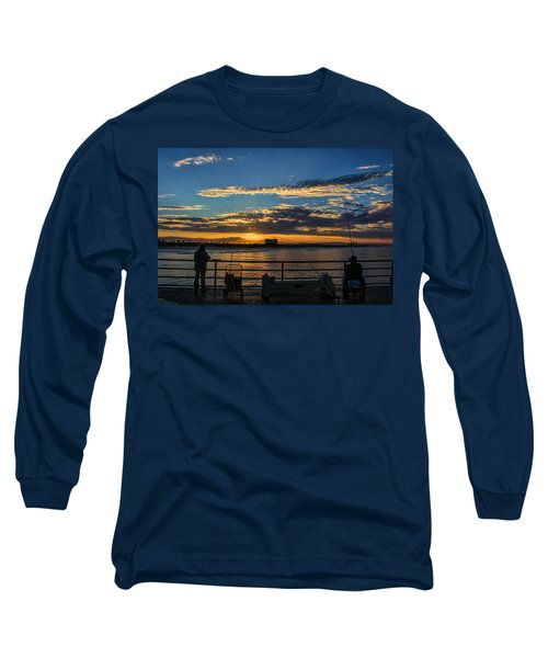 Long Sleeve T-Shirt featuring the photograph Fishermen Morning by Tammy Espino