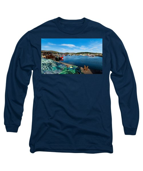 Fishing Harbor, Dingle Harbour, Dingle Long Sleeve T-Shirt