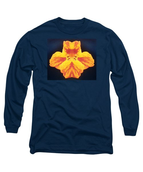 Bright Orange Floating Nasturtium Long Sleeve T-Shirt