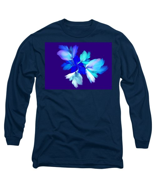 Long Sleeve T-Shirt featuring the digital art Floral Fantasy 012815 by David Lane