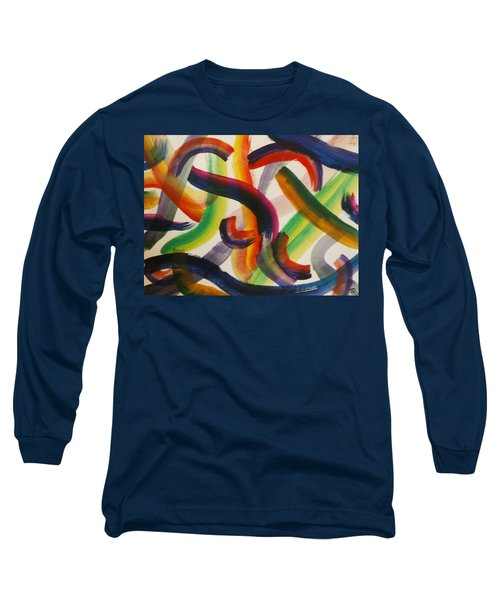 Long Sleeve T-Shirt featuring the painting Flow by Thomasina Durkay