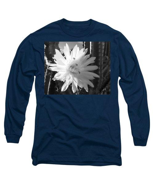 Flowering Cactus 5 Bw Long Sleeve T-Shirt