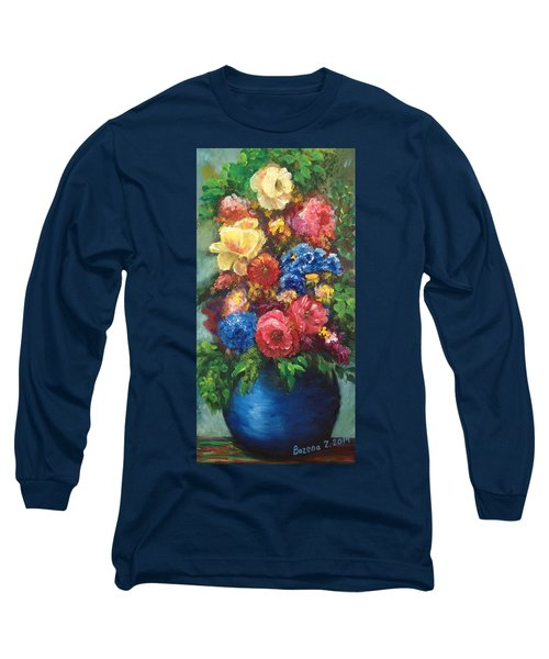 Flowers Long Sleeve T-Shirt by Bozena Zajaczkowska