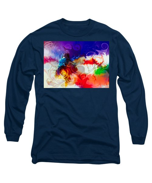 Long Sleeve T-Shirt featuring the painting Fly With Me by Omaste Witkowski