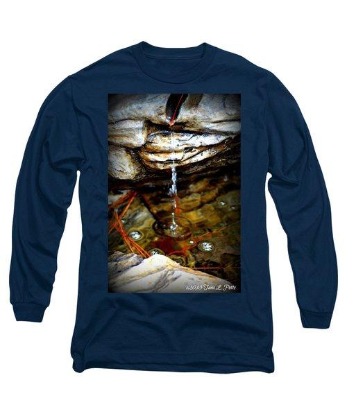 Long Sleeve T-Shirt featuring the photograph Fountain Drops by Tara Potts