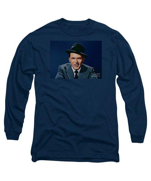 Frank Sinatra Long Sleeve T-Shirt by Paul Meijering